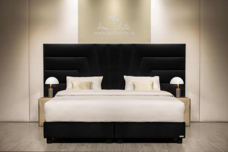 Pat tapițat BoxSpring BLACK SHELL